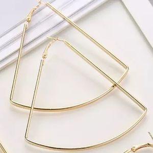Large Trapezoid Hoop Earrings